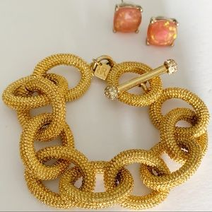 Banana Republic Costume Jewelry Bracelet Earrings